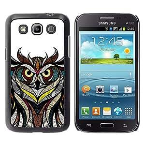 "Pulsar Snap-on Series Teléfono Carcasa Funda Case Caso para Samsung Galaxy Win I8550 , Patrón Maestro Dibujo blanco Pluma Blanca"""
