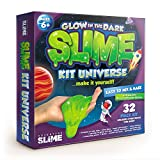 Glow in the dark slime kit lab | 32 piece | All you need to make different types of homemade DIY slime | Do it yourself supplies