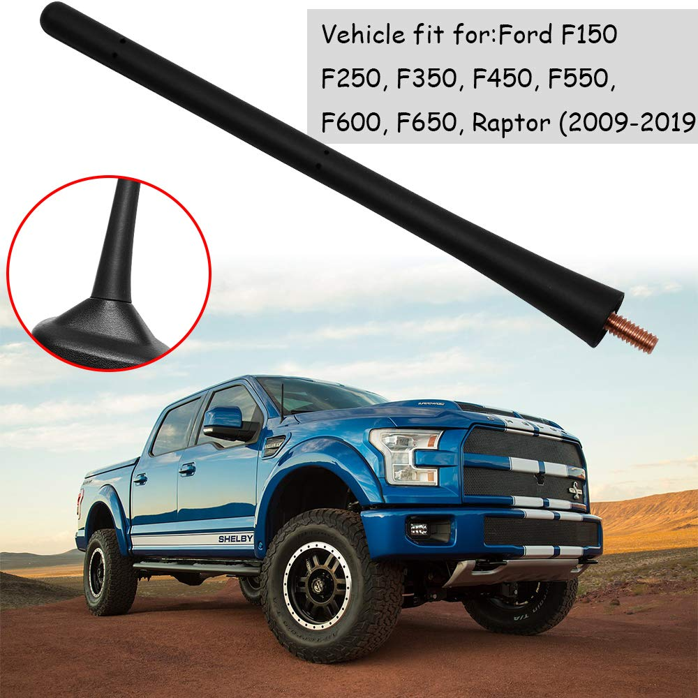 2009-2019 7inch Rubber Antenna Mast Replacement for Ford F150 Raptor // Chrysler Dodge Models 2000-2017 2011-2017 // Ford Fiesta MK7 2009-2018 // Dodge Ram 1500