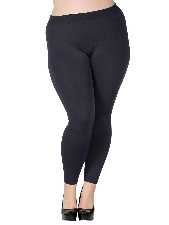 Simplicity Women Winter Plus Size Stretch Fit Leggings Pants, 3211_Charcoal