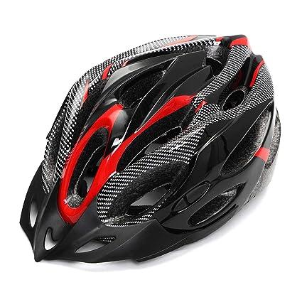 Soulpoint - Casco de Seguridad Ajustable para Bicicleta, Adulto, Fibra de Carbono, Accesorios