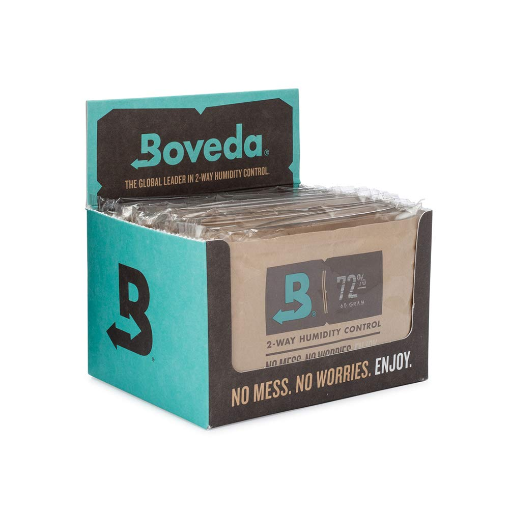 Boveda 72% RH 2-Way Humidity Control | Size 60 | Patented Technology | 12-Count Retail Carton
