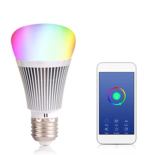 Farway - Bombilla LED E27/B22 7 W WiFi Smart Light Bombilla Inalámbrico Regulable Mando