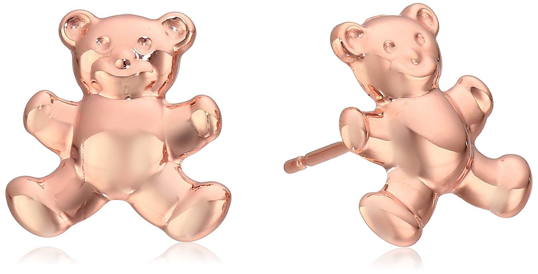 14k Italian Gold Teddy Bear Stud Earrings