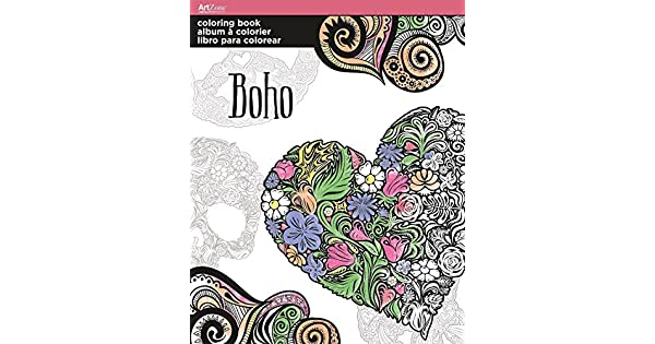Artzone Trends International Boho - Libro para Colorear: Amazon.com ...