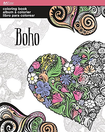 Trends International Boho Coloring Book Trends Inernational AZ0105