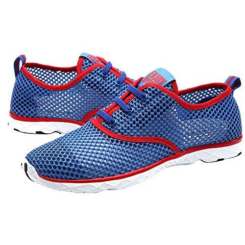 ALEADER Men's Quick Drying Aqua Water Shoes Red 7 D(M) US