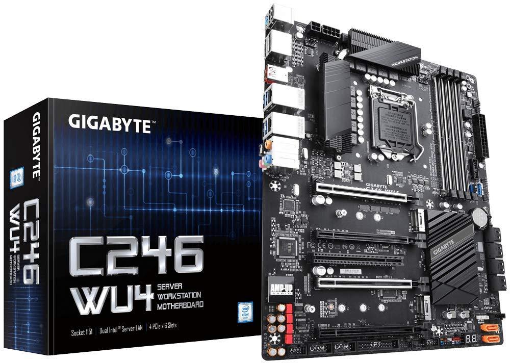 Gigabyte C246-WU4 (Intel C246 Express Chipset/ATX/DDR4/Du...