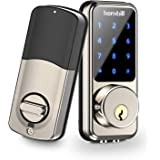 [2020 Newest] Smart Lock Keyless Entry Deadbolt Door Locks, Digital Electronic Bluetooth Deadbolt Door Lock with Keypad…