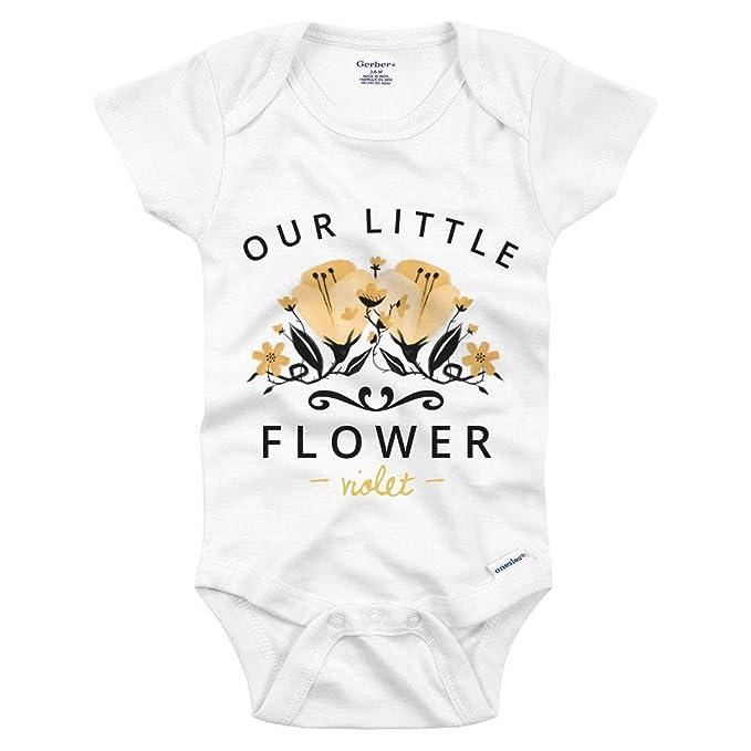 5368256bc3d Amazon.com  Our Little Flower Violet  Infant Gerber Onesie  Clothing