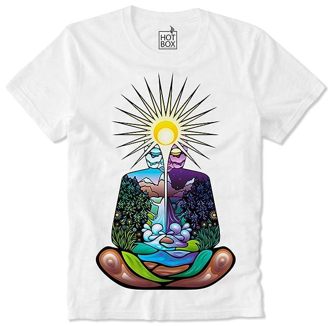 HOTBOX T Shirt Yoga Meditation Chakra 4 Elements Goa India ...