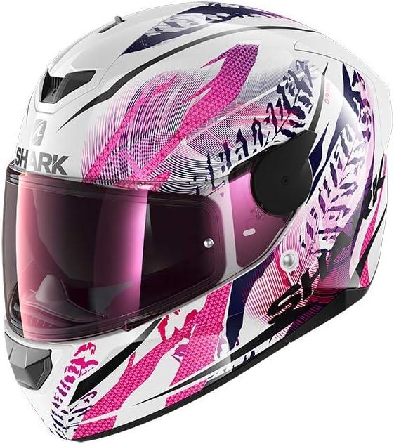 Shark Herren Nc Motorrad Helm Weiss Rosa S Auto