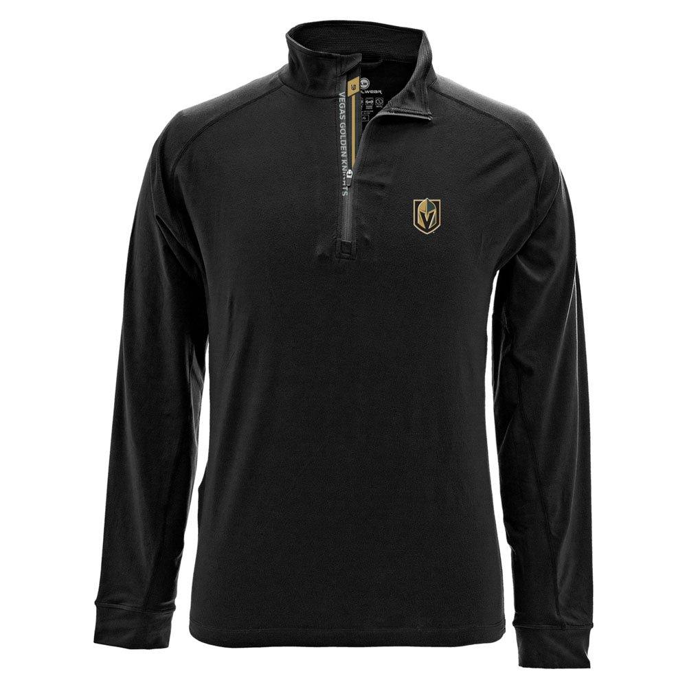 NHLメンズピークBanner Stripe Quarter Zipミッドレイヤージャケット B074RKBRMS Small|ブラック|Vegas Golden Knights ブラック Small