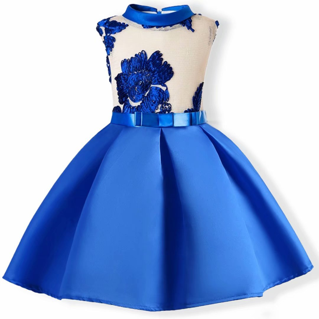 AYOMIS Flower Girl Pageant Dress Kids Party Embroidery Wedding Dresses 2-9 Years