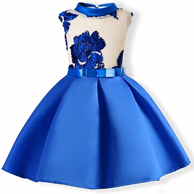 Amazon.com: AYOMIS Baby Girl Dress Party Wedding Flower Dresses ...