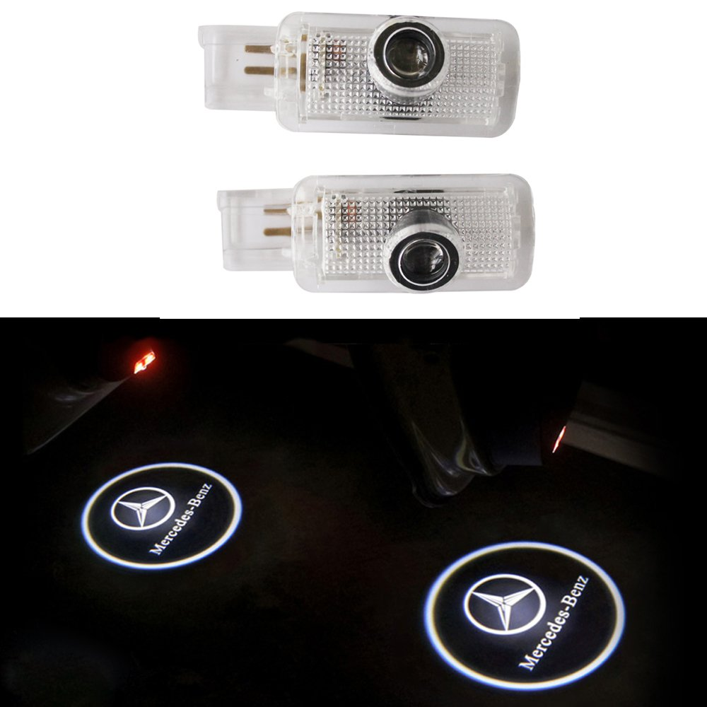 ZNYSTAR 4pcs Car LED Projector Door Lamp Ghost Shadow Welcome Light Courtesy Logo Kit (4PCS Audi)