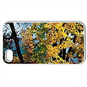 Autumn river view - Case Cover for iPhone 4 and 4s (Rivers Series, Watercolor style, White)