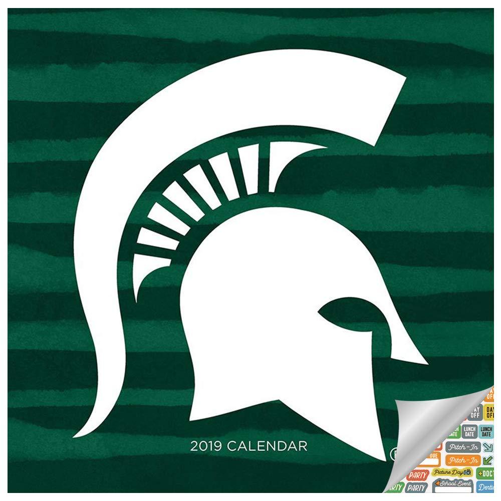 Michigan State Calendar 2019 Amazon.: Michigan State University Wall Calendar 2019 Set