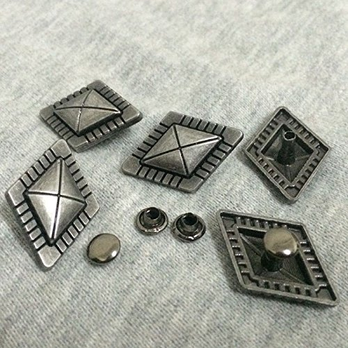 ShopForAllYou Spikes and Studs Pkg of 5 Diamond Shaped Metal Rivet Studs 1