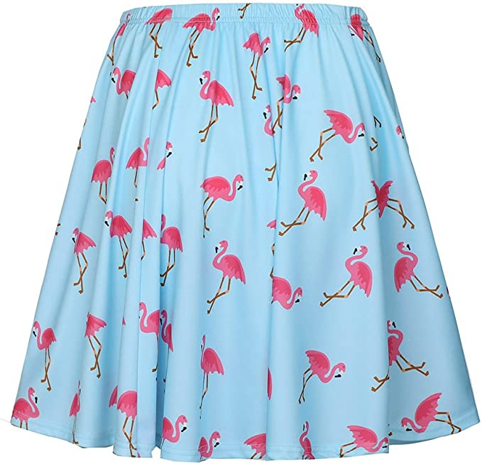 Verano Falda para Mujeres - Moda Adelgazar Cintura Alta Swing ...