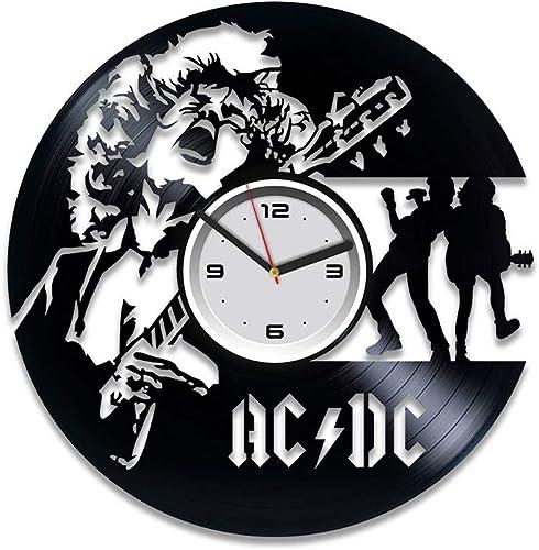 Kovides AC DC Vinyl Clock AC DC Vinyl Wall Clock AC DC Vinyl Record Clock Home Decor Art Best Gift