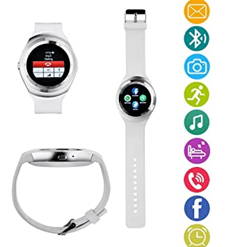 TKSTAR Smart Watch Inteligente Reloj de Bluetooth Pulsera Fitness Tracker Deportes Reloj teléfono con SIM Tarjeta/TF Función/Cámara/Text/Whatsapp/Contador ...