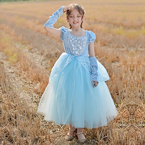 Cinderella Dress Princess Costume Party Dress 4-5y by CQDY (Image #3)