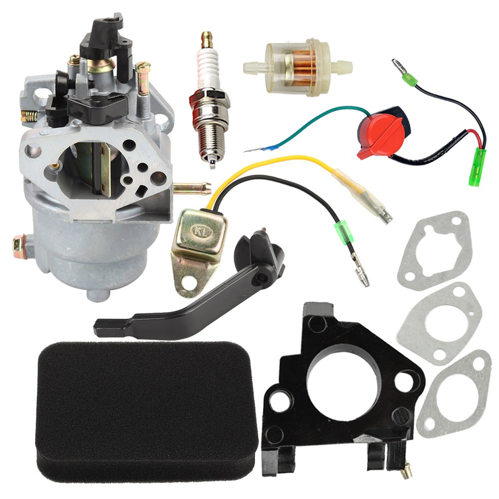 Amazon.com : Butom 0J58620157 Carburetor with Air Filter Insulator Oil  Sensor for Generac GP5500 GP6500 GP6500E GP7500E 8125W Jingke Huayi Kinzo  Ruixing ...