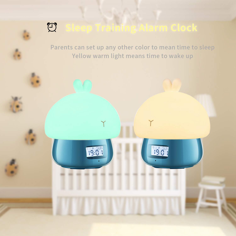 GoLine Despertador Infantil Niño, Reloj Despertador Digital, Wake Up Light Sobremesa con Luz Natural, 7 Colores, 11 Sonidos, Función de Snooze, ...