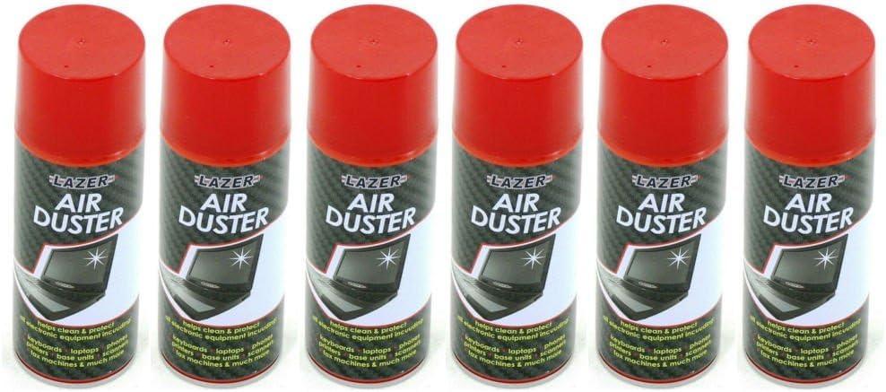 6 x Lazer aire comprimido plumero Spray Limpia proteger ...
