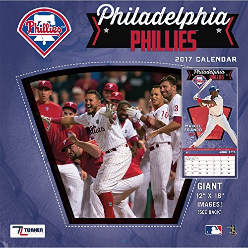 Player Phillies Mlb (Turner Licensing Sport 2017 Philadelphia Phillies Team Wall Calendar, 12