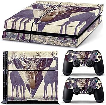 Pegatina para la cara de caroki de PS4 [2 pegatinas de controlador] pegatina para la piel de Sony Playstation 4 Console x 1 y controlador x 2: Amazon.es: Electrónica
