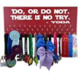 Running On The Wall Disney Medal Display - DO, OR DO NOT. There is NO Try - YODA - Start Wars - Run Disney Medal Hanger…