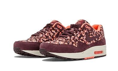 pretty nice 82c49 c6ba5 NIKE Air Max 1 LIB QS Womens Running Shoes 540855-600 Deep Burgundy Bright  Mango