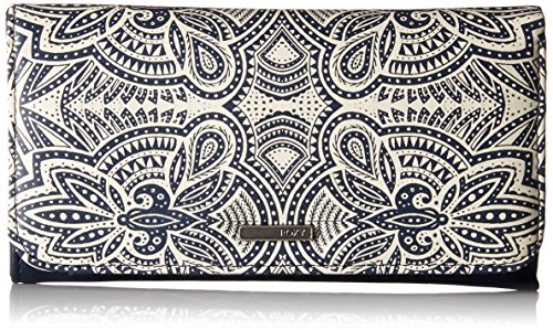 Roxy My Long Eyes Printed Tri-Fold Wallet Wallet, MARSHMALLOW TRIBAL VIBES STRIP, One Size