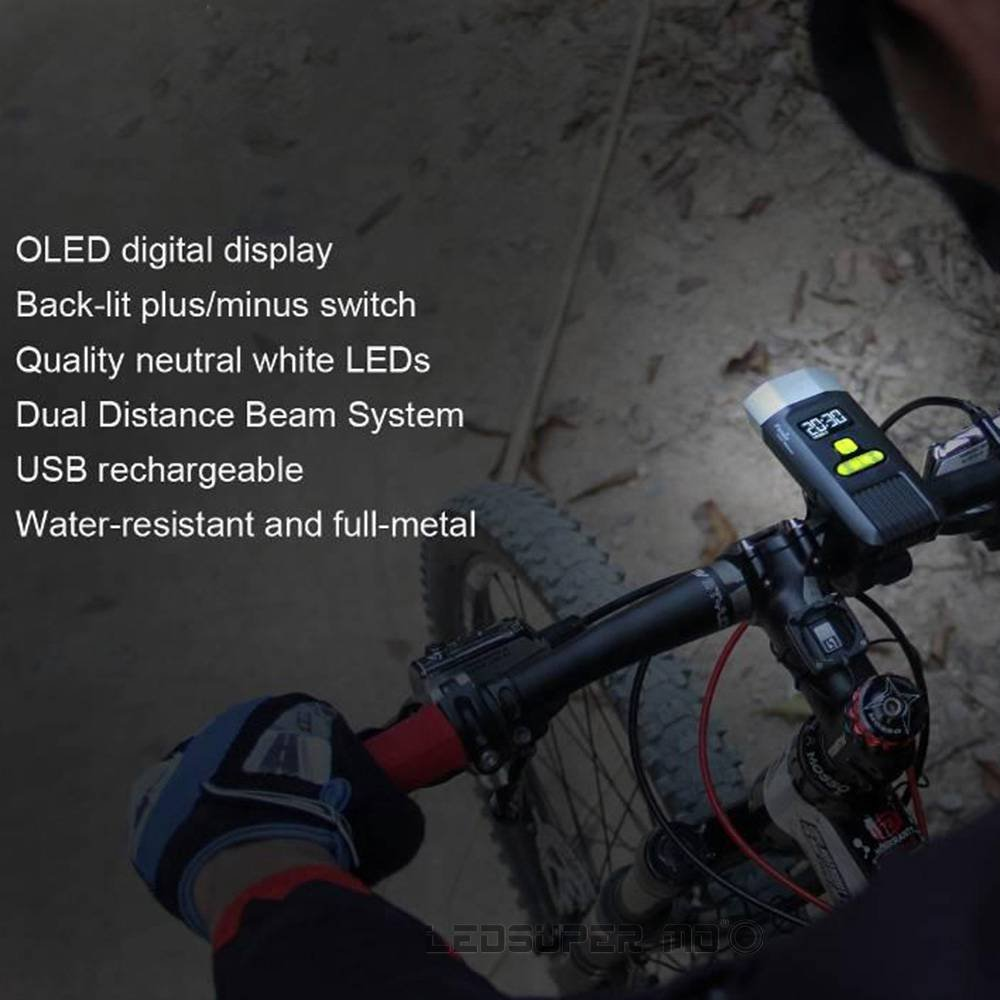 Fenix BC30R USB rechargeable bike light 1600 lumens OLED display screen 5200mah battery by Unknown (Image #2)