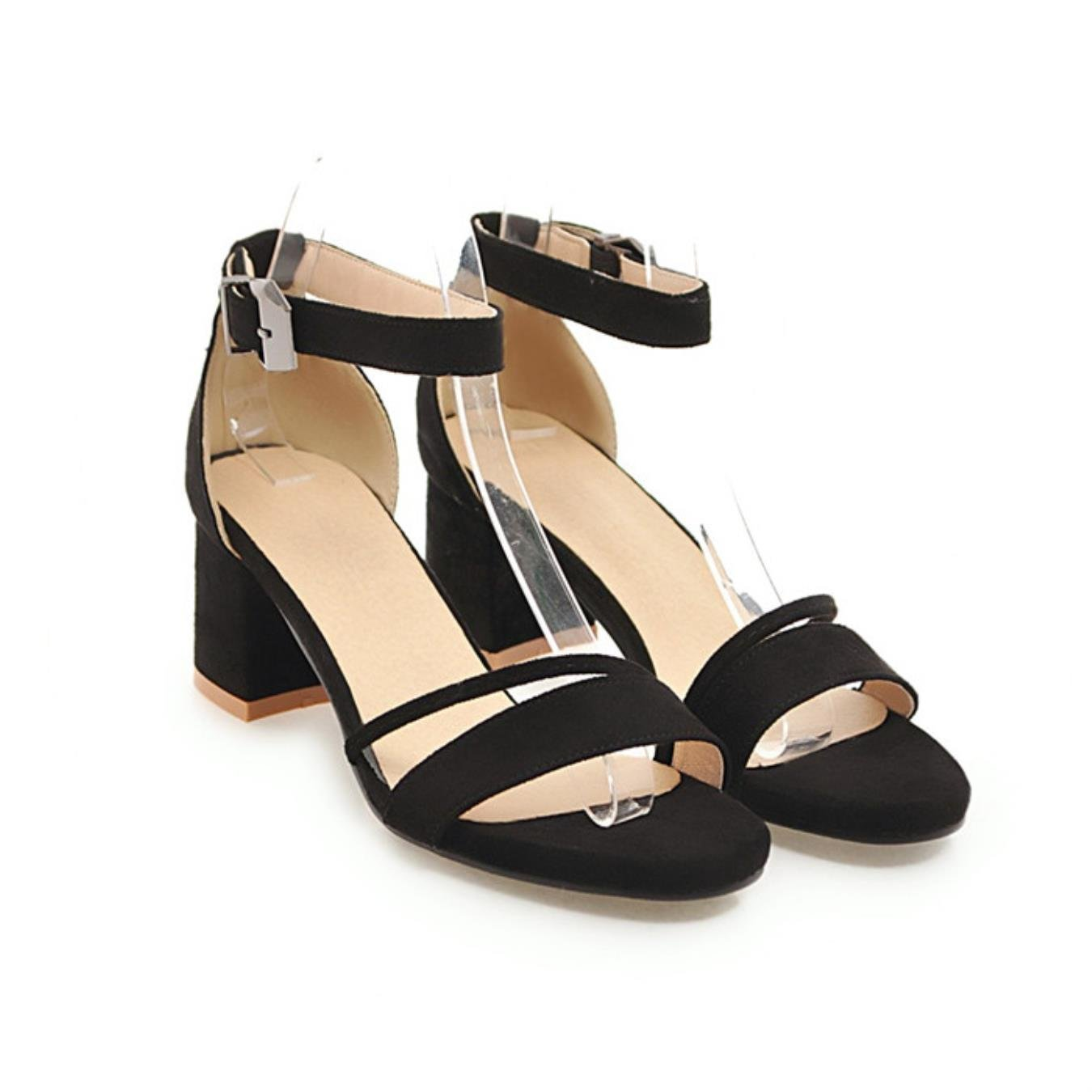 83ddbe0e2c1e4 Amazon.com  Meotina Sandals High Heels Summer Shoes Woman Peep Toe Block  Heels Ankle Strap Sandals  Clothing