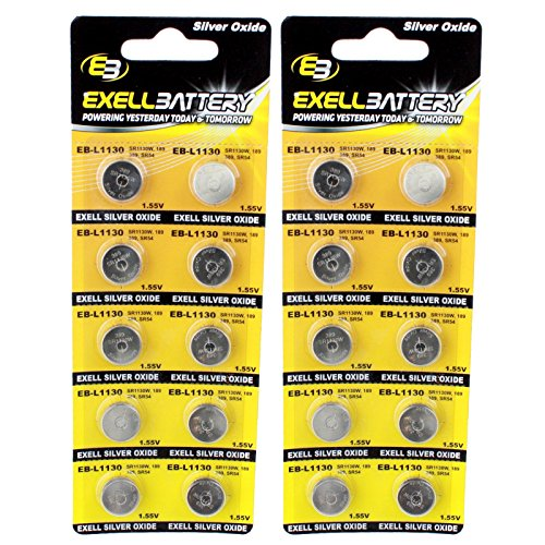 2pc 10pk S1131 Silver Oxide 1.5V Watch Battery Replaces AG10 D189 USA -