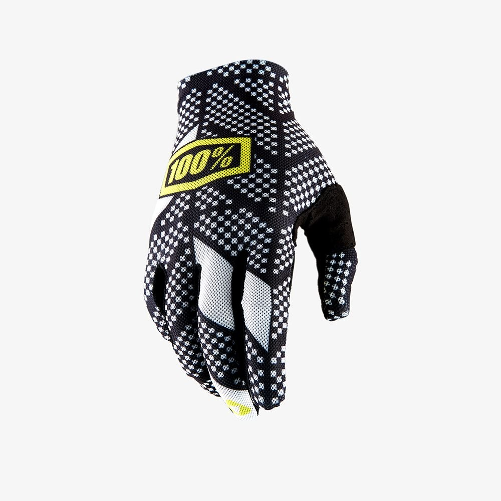 White MX Motocross Gloves by 100/% 10009-013 Orange Cycle Parts Mens Celium 2 Code Black Small
