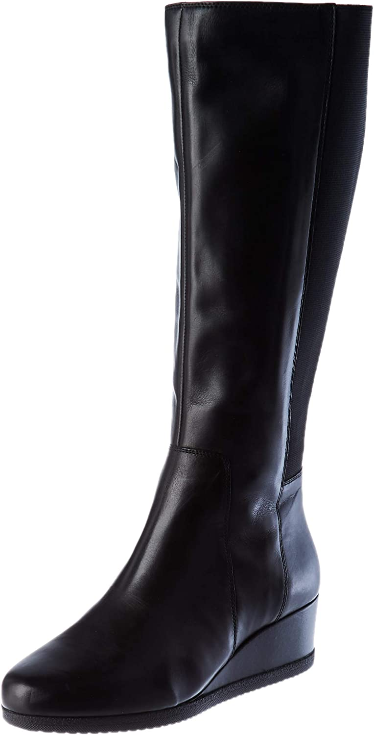 Geox D Anylla Wedge I, Knee High Boot Mujer