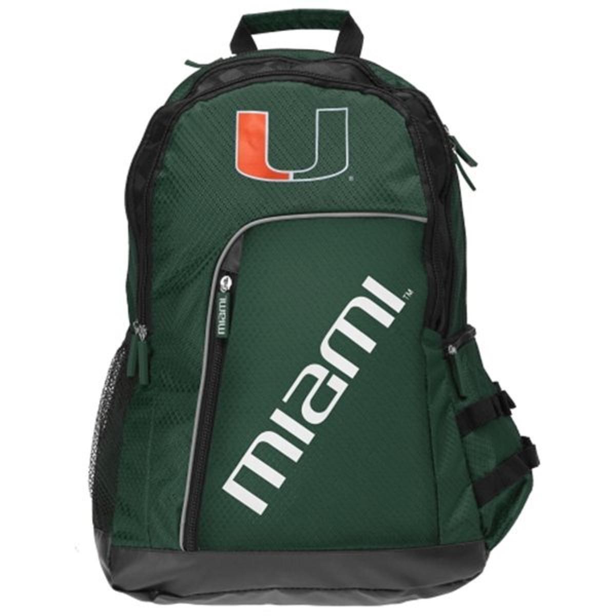 NCAA Miami Hurricanes 2014 Elite Backpack, Green, One Size