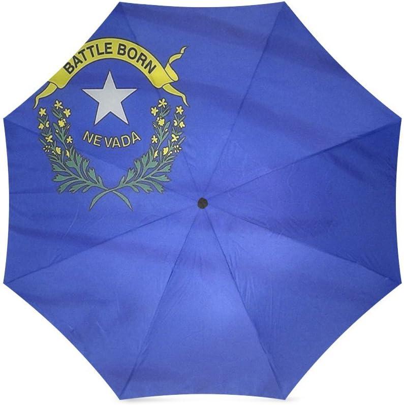 Friends Novelty Birthday Gifts Presents Custom Nevada states Flags Compact Foldable Rainproof Windproof Travel Umbrella