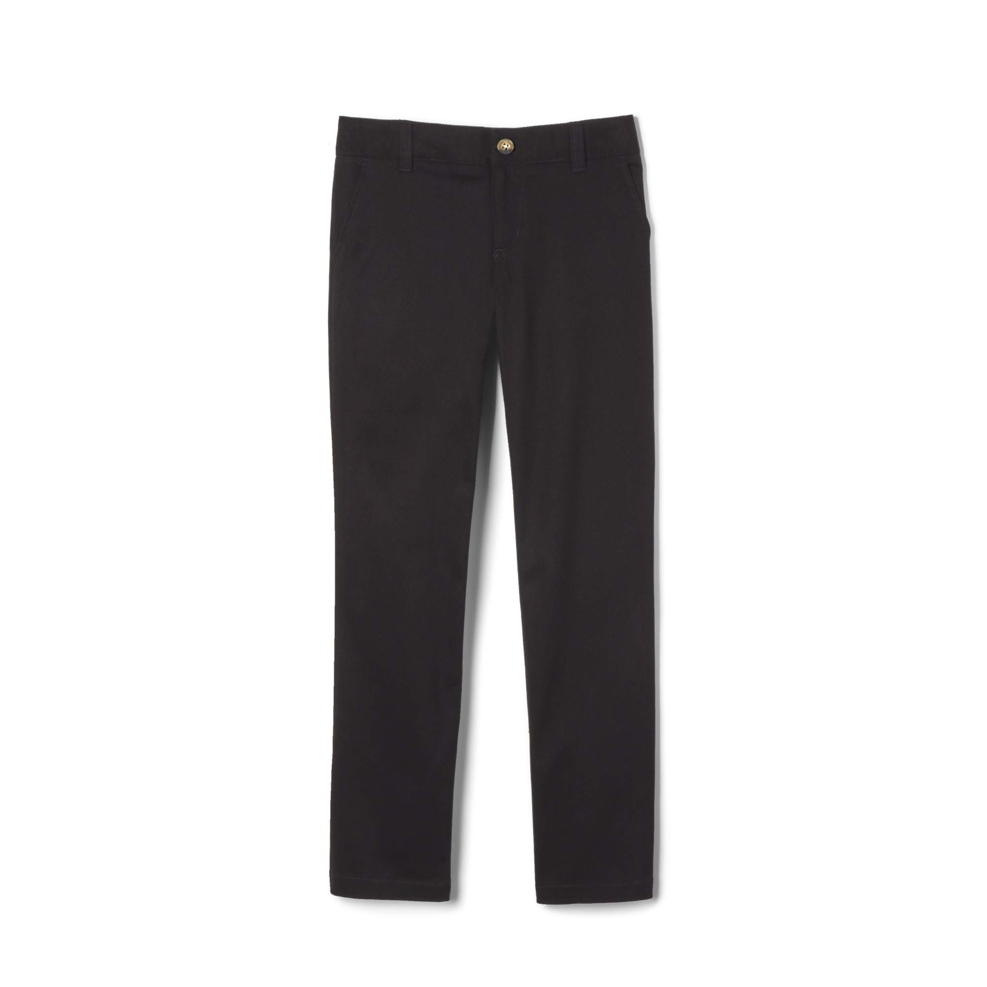 French Toast Little Girls' Straight Leg Pant, Black, 5