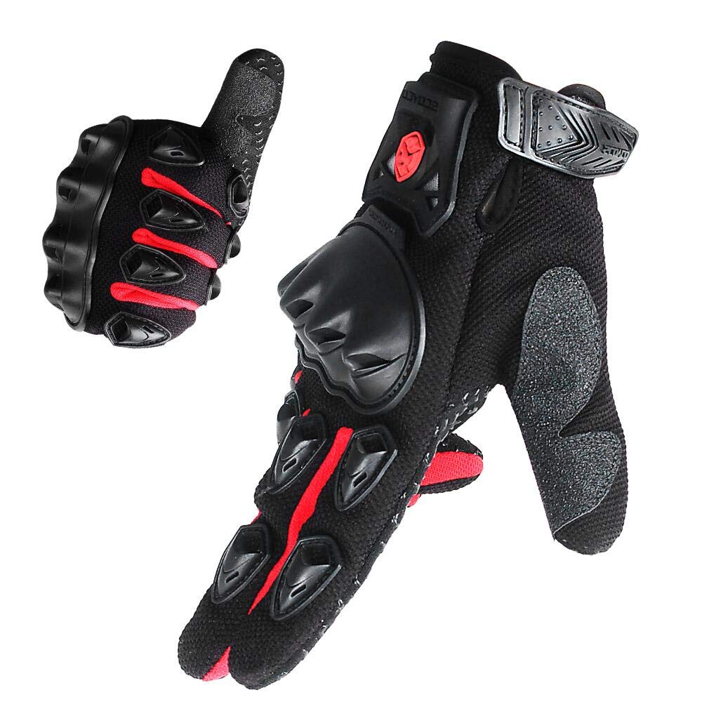 with Armor Protection,Portable,Breathable,Reinforced palm Motocross MBX Gloves Grip for Spring Blue,L SCOYCO Motor Gloves,Shockproof
