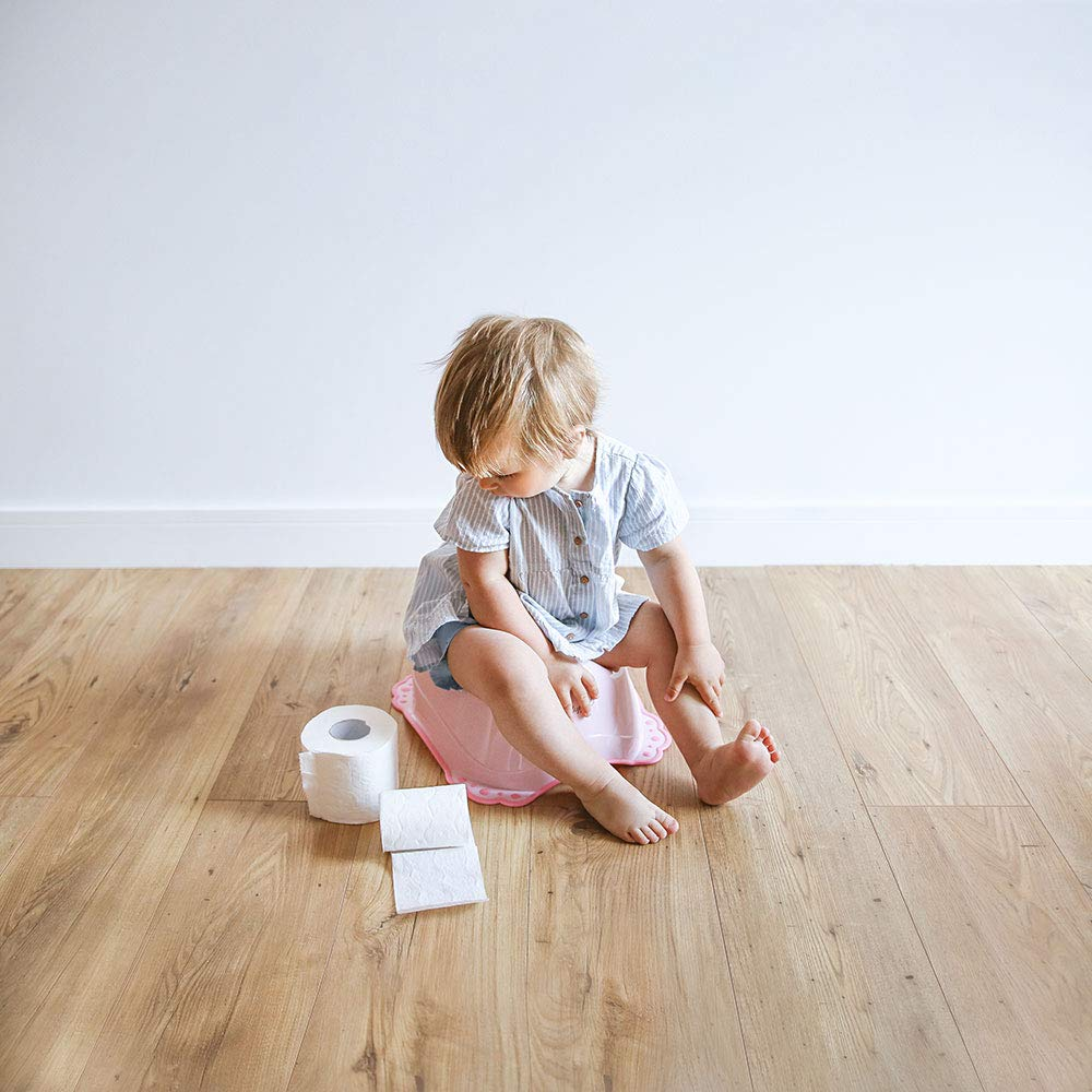 T/öpfchen mit Anti-Rutsch-Funktion 3 Jahre Topf Baby 18 Monate bis ca f/ür Babys und Kinder Ab ca Hund und Katze LUPPEE stabiles Babytopf Pink