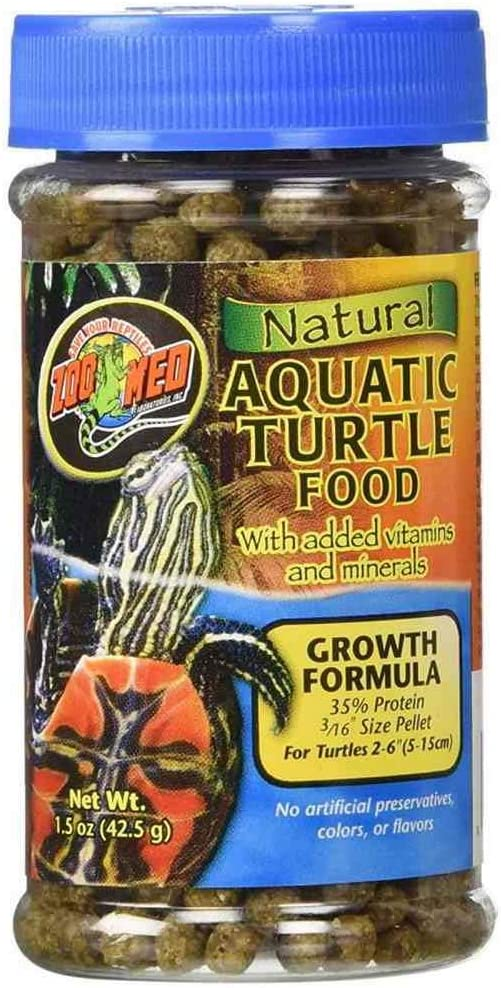 Zoo Med Aquatic Turtle Food Growth Formula [Set of 2] Size: 1.85 Oz.