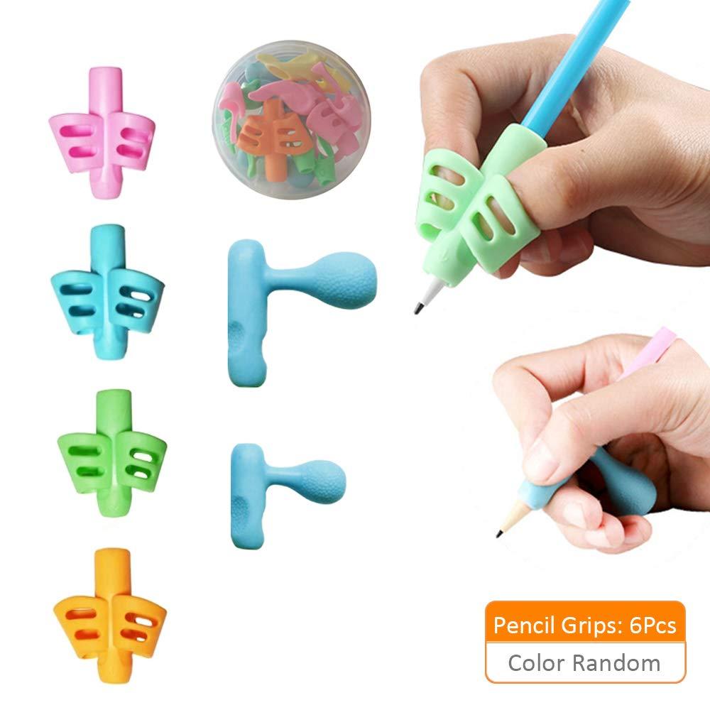 ZEVONDA Guide Doigt Enfant Grips pour Crayon Ergonomique Aide Ecriture pour Enfant Ensemble de 6
