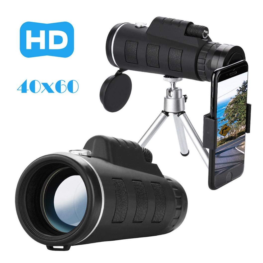 40x60 HD Phone Telescope Lens and 40x Magnification with Tripod + Clip (Adjustable) and Cleaning Cloth