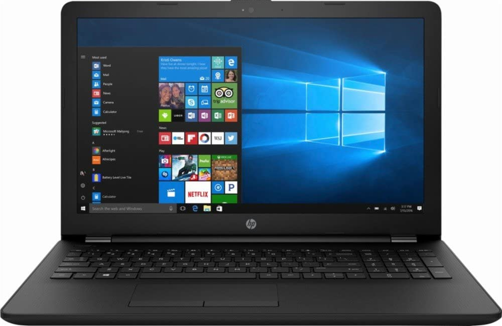 "High Performance HP 15.6"" Laptop PC AMD A6-7310 Quad-Core Processor 4GB RAM 500GB HDD AMD Radeon R4 Graphics DVD-RW HDMI WIFI HDMI Webcam DTS Audio Windows 10-Black"