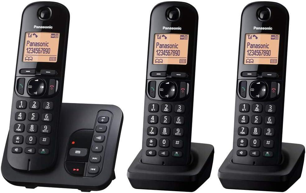 Panasonic KX-TGC223GB - Teléfono (Teléfono DECT, Altavoz, 50 entradas, Negro, Plata) [versión importada]: Amazon.es: Electrónica